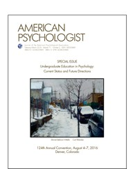 Cover of a special issue of American Psychologist.