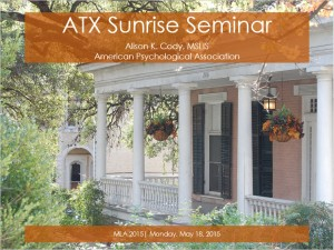 MLA Sunrise Seminar Slides