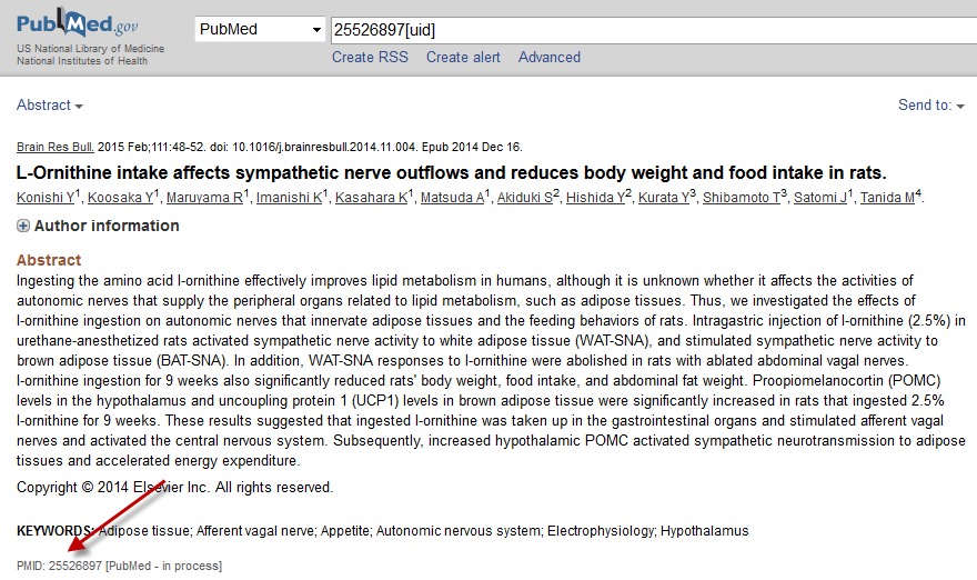 The PubMed record for the same article.