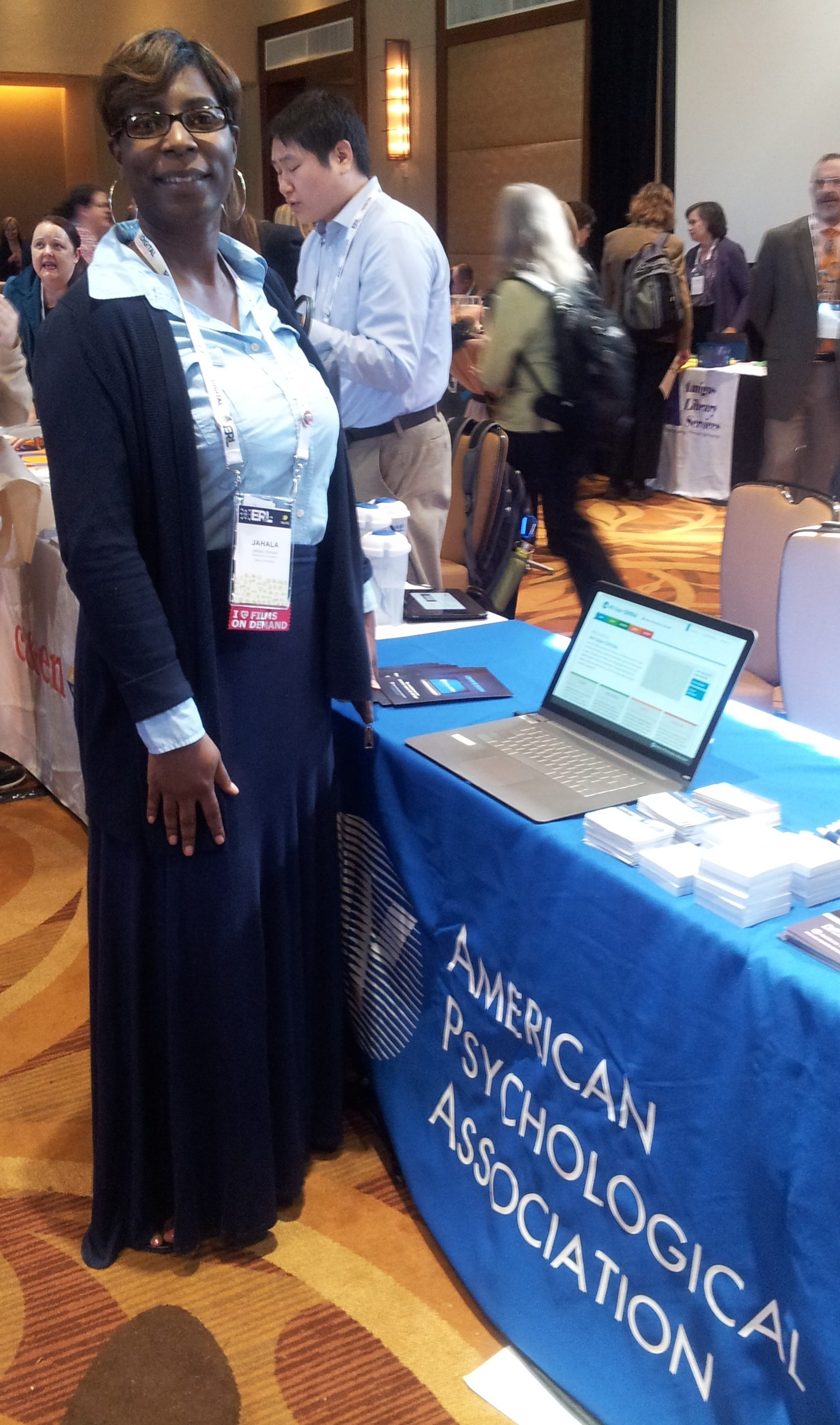 Jahala Simuel stops by the APA booth at ER&L 2016.