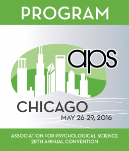 Association for Psychological Science 2016 Convention program cover