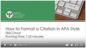 Screenshot of How to Format a Citation in EBSCOhost tutorial title screen.
