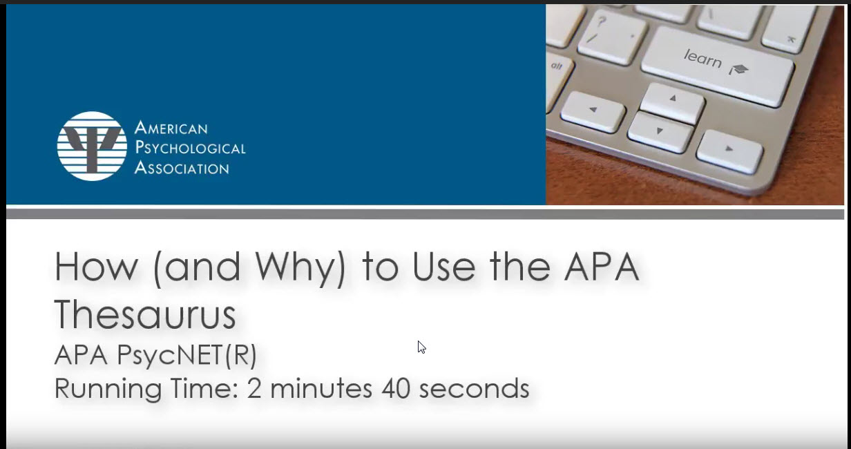 why use apa
